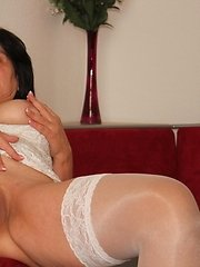 This horny mature slut is ready for action