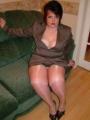 In My Sexiest Mini Skirt Suit With Seamed Stockings  Heels I Was Determined To MAke A Good Impression I imagined him fucking me over his desk and suck