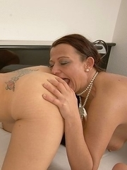 These hot od and young lesbians make out and go beyond