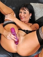 Hot housewife getting wet and wild