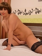 Horny housewife getting herself wet